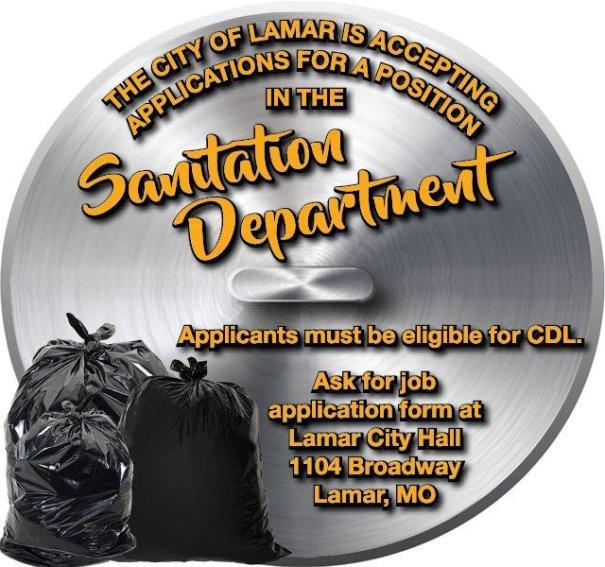 8-24 City of Lamar-Sanitation Dept-2x3